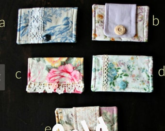 Gift Card Holder Small Snap Closure Wallet Sale Choose One (1)
