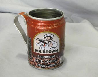 Mr Brown tin can drinking cup