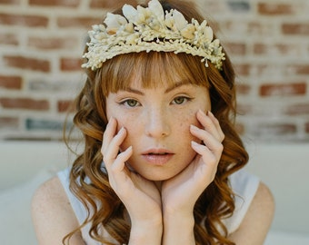Wedding wax orange blossom crown. bridal crown - Remembrance crown no. 2203