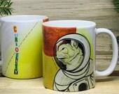 Space Cat Coffee Mug / Cat Coffee Mug / Space Coffee Mug / Mars Souvenir Mug / Unique Coffee Mugs / Printed Gift Mug / Cool Mugs