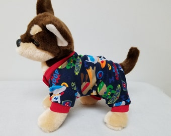 Dog Clothes Super Dog Pajamas, Chihuahua, Yorkie
