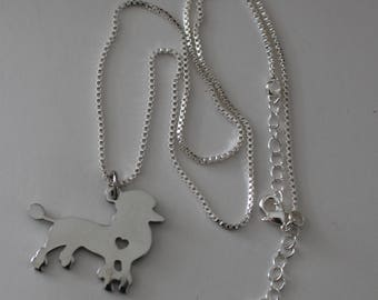 FRENCH POODLE Dog Pendant and Chain - Pet