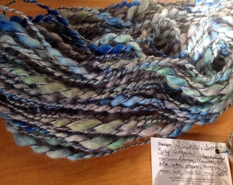 Poseidon's Dreams - 3 ply handspun artyarn - 5 oz & 110 yards - handpainted lambswool silk cotton viscose acrylic
