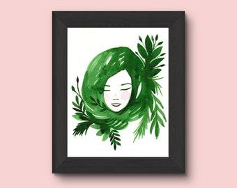 Floresta Green art print