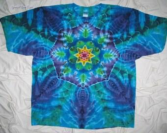 tie dye, tye dye shirt, 3xl tie dye mandala, tie dye shirt by grateful dan dyes, festival clothing, tie dye for men and women