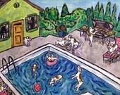 30% off Jack Russell Terrier - dog art tile - modern dog art - pool party - ceramic coaster - gift - print on tile