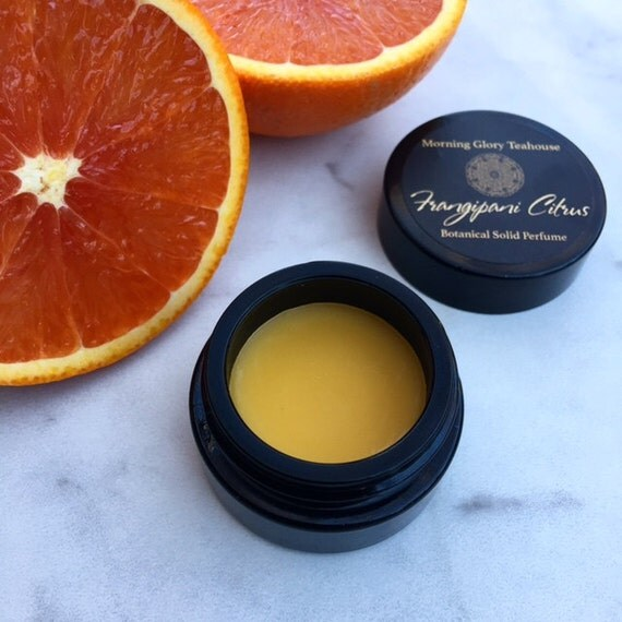 FRANGIPANI CITRUS Botanical Solid Perfume ~ clean, honeyed citrus and lush tropical florals with subtle hints of musk and leather