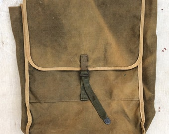 vintage ca. 1930s faded canvas rucksack
