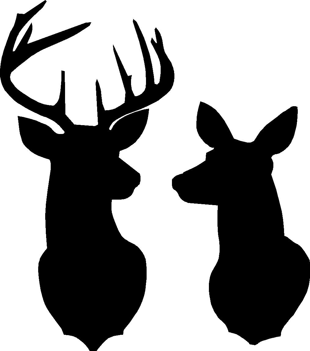 Canny image intended for deer head silhouette printable