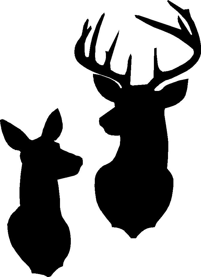 This is a photo of Crazy Printable Deer Head Silhouette