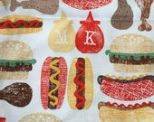 Half Yard of Picnic Food Fabric