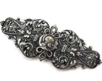 Filigree Sash Buckle - Art Nouveau, Antique Victorian Dress Buckle