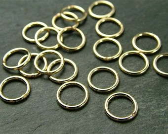 10pcs 6mm Gold Filled Closed Jump Ring ~ 22 gauge (CG1392a)