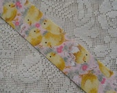 5-3/4 Yards Cut Edge Cotton Tellow Chick Easter Ribbon  TS-17