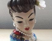 Custom Carmen Miranda Style Head Vase