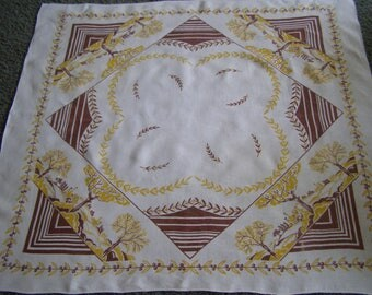 Vintage Tablecloth ~ Countryside