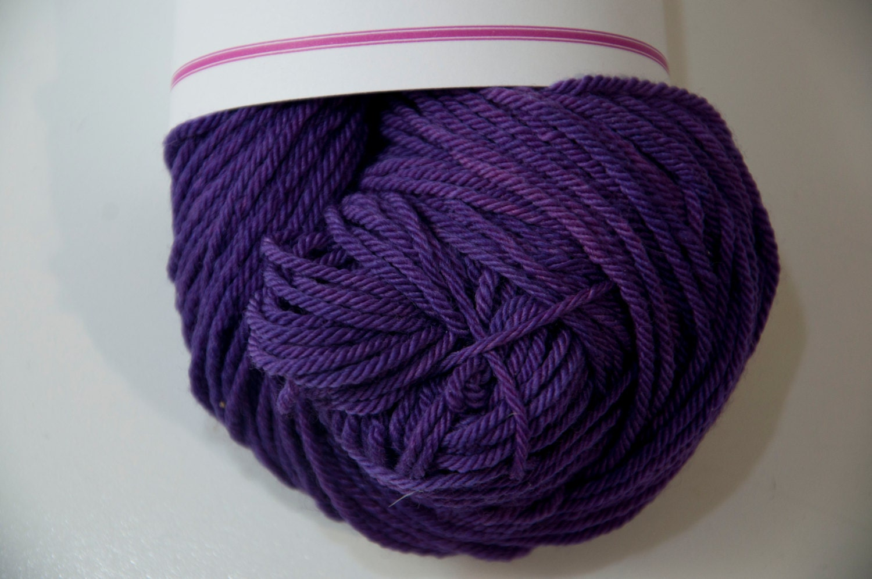 Squishy Yarn : Hand-Dyed Plum Perfect Colourway DK Yarn Merino Squishy Base from KnitterScarlet on Etsy Studio
