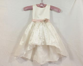 The Hilton Hi-Low Flower girl Dress- ONLY ONE LEFT- Toddler Custom Orders Available-CRBoggs Original