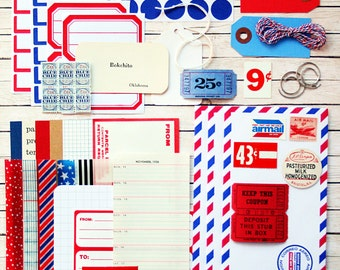 Large Airmail Inspiration Pack - New and Vintage Ephemera