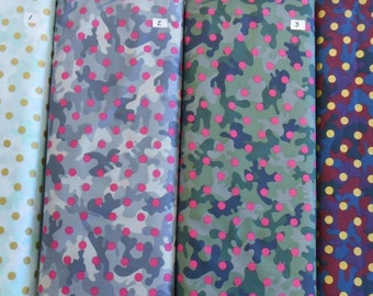 "Dear Stella GLAMO CAMO 100% cotton novelty camouflage fabric 1 yd x 44"" wide"