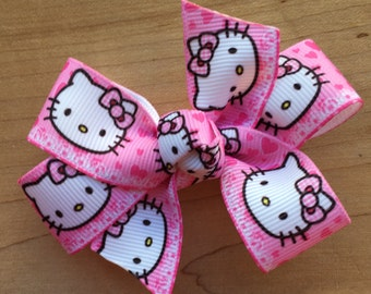 Hello Kitty Hair Bow - Hot Pink, Hello Kitty party, Hello Kitty party favors, hello kitty loot bags, Hello Kitty birthday party