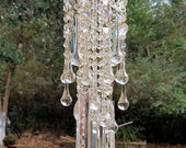 Antique Crystal Waterfall Wind Chime, Iridescent Crystal Waterfall, Crystal Sun Catcher, Garden Decoration, Home Decoration