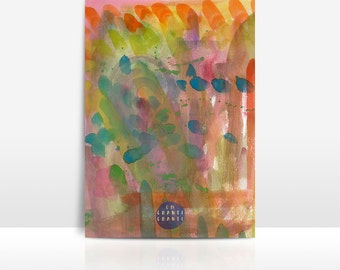 wyldchild   wild child   watercolor   abstract   colors   painting   digital download   poster   print