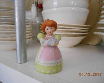 "1988 Avon Lady holding a Baby Porcelain Bell  2"" x 2"" x 3"""