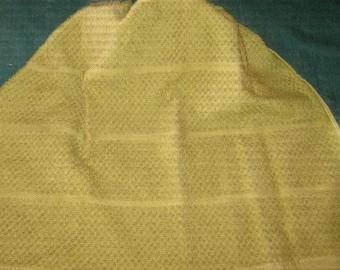 Crochet Hanging Towel Light green Towel with dk green crochet top