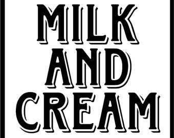 Primitive Stencil Milk and Cream 12x12 reusable