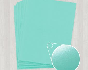 100 Sheets of Cover Stock - Teal and Blue-Green - DIY Invitations - Paper for Weddings & Other Events
