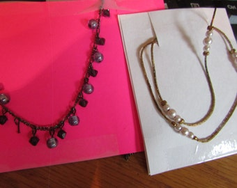 charm pearl necklace