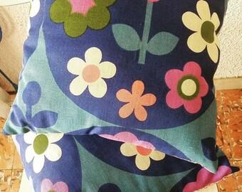 Vintage 1970s Fabric Cushion