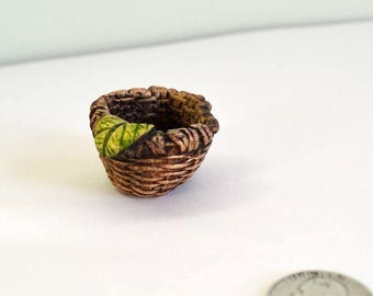 Fairy basket cast stone for Fairy garden