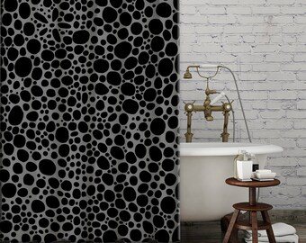 brown and black shower curtain. Grey Black Shower Curtain art funky shower curtain modern  mod bathroom accessories abstract Mod Etsy