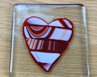 Valentines heart coaster