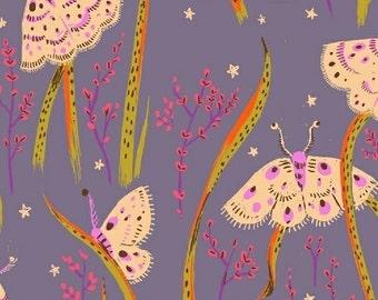 Heather Ross - Sleeping Porch - Sleeping Moths Twilight 42210 14 Windham Fabrics - Sold by the Half Yard