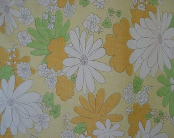 Bright floral flat sheet - double - Cannon
