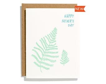 Father's Day Fern - Letterpress Holiday Card - CH277