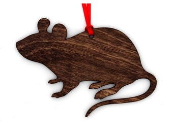 Wooden Mouse Ornament