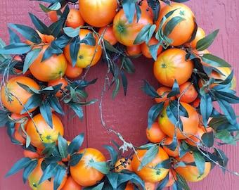 Orange Crush Wreath....Orange Wreath.....Holiday Orange Wreath.....Door Wreath