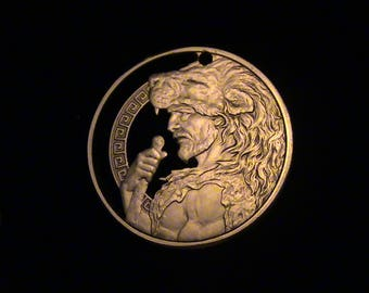 HERCULES - First Time Cut! - Hand Cut From .999 1 oz. Copper Bullion Medallion