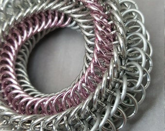 """Blackmaille Chainmaille Fidget Toy - """"Winter Rose"""""""