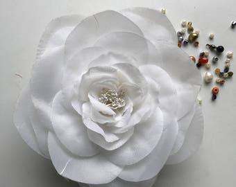 SILK GARDENIA FLOWER, Off White, Eggshell / S - 74