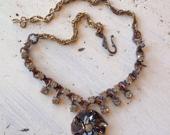 Black Diamond Swarovski Rhinestone Necklace