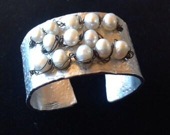 Aluminum Pearl Cuff