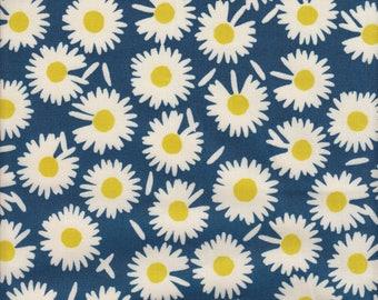 Blend Fabrics Garden Roost Daisy in Navy - Half Yard