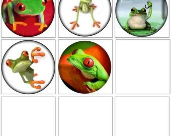 MERZIEs 12mm glass U PICK round frog green red animals reptile SNAP Button - SHIPs from USA