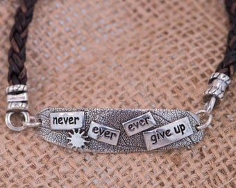 Never Ever Ever Give Up Bracelet
