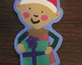 Hand Painted Elf Christmas Ornament Decor